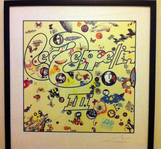 Led Zeppelin III ZACRON Album Framed Litho Print   Signed by Artist
