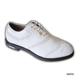 Stuburt DCC Mens Premium Golf Shoes Leather White Wing Tip REDUCED