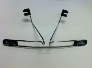 Land Rover Rear Back Seat Chrome Coat Jacket Hanger Rack Genuine New
