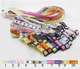 Dog Collars and Dog Leashes Wholesale Pet dog Collar and leads set 10