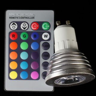 GU10 LED Light Bulb / Remote Controller Magic Lighting 16 Colors 5