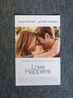 Newly listed LOVE HAPPENS POSTER Aaron Eckhart Jennifer Aniston