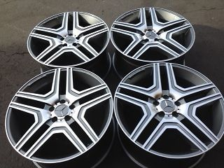 20 MERCEDES ML63 AMG STYLE WHEELS TIRES ML350 ML430 ML500 RL350 RL550