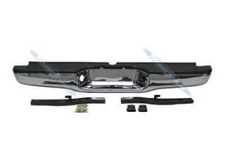 95 04 TOYOTA TACOMA REAR STEP BUMPER CHROME ASSY WITH BRACKET & PAD