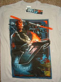Darth Maul Pure Aggression Star Wars Phantom Menace T Shirt Nwt