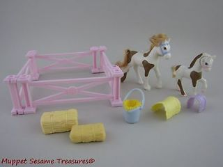 Littlest Pet Shop SHETLAND PONIES HORSE FIGURES ACCESSORIES PLAYSET