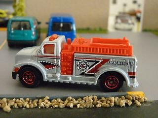 matchbox silver highway rescue fire truck loose  2 39 or