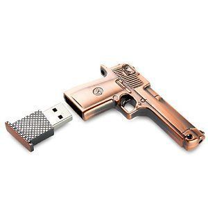 GB Metal Gun shape USB Flash drive Pistol Shaped 8G Memory Stick