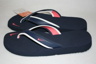 NEW Womens NIKE Celso Girl Thong Flip Flop Sandals Navy/White/Mel​on