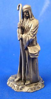 franklin mint pewter figure nativity 1982 shepherd