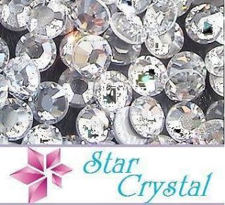 Star Crystal Rhinestones Hotfix Crystal Clear Multi Size Your Choice x