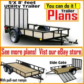 plans 5 x 8 utility cargo atv motorcycle trailer time
