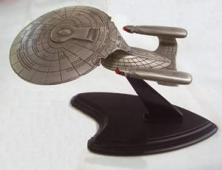 The Franklin Mint Star trek U.S.S. Enterprise NCC 1701 D Pewter Model