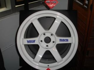 18 Volk Racing 18x9.5 5x114.3 +40 TE37 White (1) Wheel Rim Volks