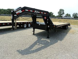 PJ 32 Gooseneck Flatbed Trailer With Tandem Duals **ON SALE NOW
