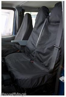 GREY FORD TRANSIT TIPPER RECOVERY VAN SEAT COVERS