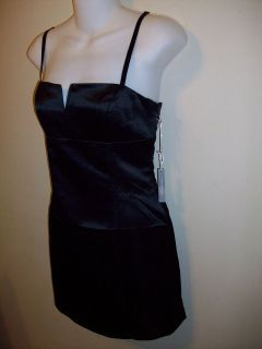 Forever 21 Dress Formal Black Silver Size 6 8 Sexy Open Bust ♥