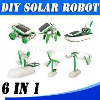 6in1 Solar Power Manual Assemble DIY Educational Kit Boat Fan Car