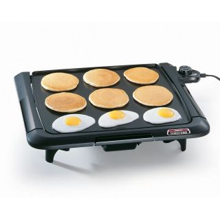 Size Cool Touch Cast Aluminum Tilt & Drain 120 V Electric Griddle