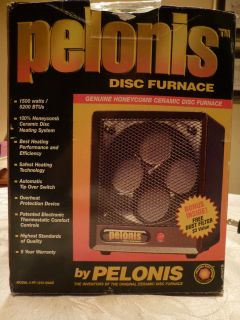 NEW PELONIS Ceramic Disc Space Heater Portable Furnace 1500 watts 5200