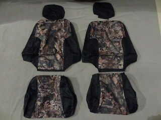 Toyota Tacoma Pair of Sports Buckets Exact Seat Covers in black/camo