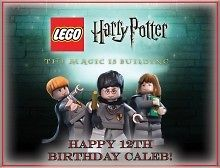 Harry Potter Lego #1 Edible CAKE Icing Image topper frosting birthday