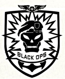 COD Black Ops Skull Logo Vinyl Decals Xbox 360 PS3 JEEP Gaming Laptop