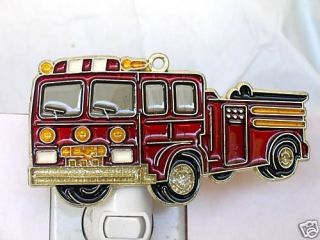 Newly listed STAINED GLASS STYLE FIRE TRUCK NIGHT LIGHT FOR ALL NEW