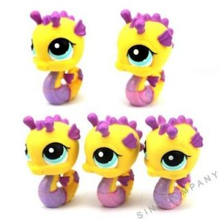 Newly listed 5X Littlest pet shop yellow seahorse 2006 figures Super