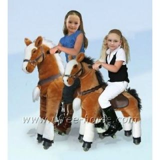 big toy horse, not rocking horse, really ride on and walk, go without