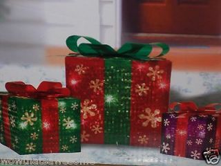 Newly listed Lighted Christmas Holiday Indoor Outdoor Gift Boxes Party