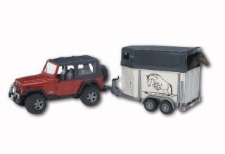 New Bruder Toys Jeep Wrangler Unlimited With Horse Trailer Incl. 1 Toy