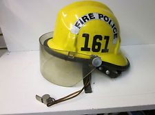 vintage cairns bros fire police helmet with whistle time left