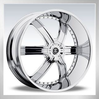 28 2Crave No.4 Wheels rims&Tires fit Chevy Cadillac GMC Nissan Tire