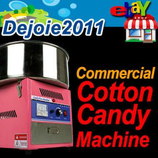 MTN Deluxe Commercial Electric Cotton Candy Floss Machine Maker Pink