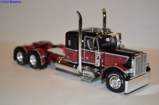 & Black Peterbit 379 36 Sleeper Semi Truck Tractor 1/64 Aftermarket