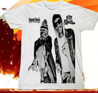 Snoop Dogg & Wiz Khalifa Hip Hop Lil Wayne Rapper Hot T SHIRT Sz.S,M,L