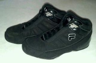 Girls kids black Fila sneakers basketball shoes Size 1.5 EUC