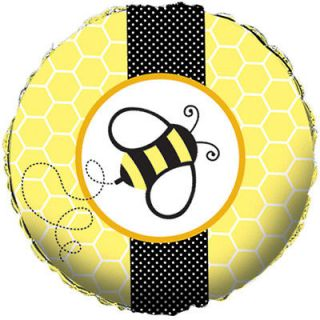 NEW BUZZ BABEE BUMBLE BEE BABY SHOWER 18in FOIL BALLOONS, POOH, HONEY