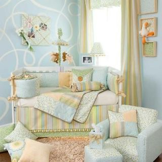 5p Argyle Dot Swirls Rainbow Nursery Neutral Baby Crib Bedding Set Boy
