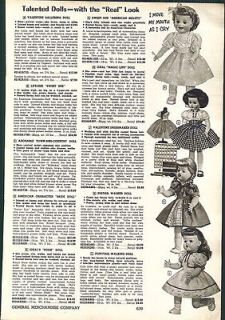 1956 57 AD Ideal Magic Lips Pigtail Ponytail Walker Dolls Raggedy Ann