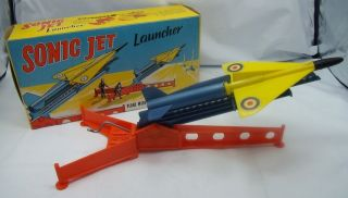 PLANE SONIC JET LAUNCHER PROBABLY LOUIS MARX Vintage Aeroplane Toy