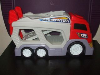 Toy Car Transporter Truck Tractor Trailer Hauler Makes Sounds 15 long