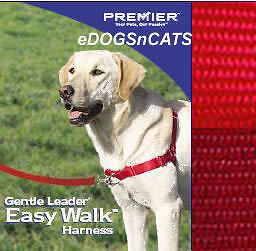 gentle leader easy walk harness dog red large new one