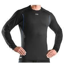 New Under Armour Mens ColdGear Base 3.0 Fitted Thermal Crew Shirt