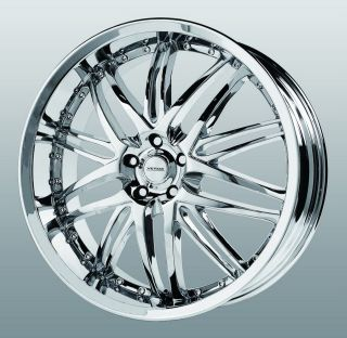 20 inch Verde Kaos Chrome Wheels Rims 5x120 LS 460 LS HL G8 GTO