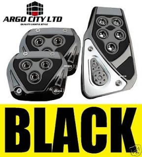 chrome black car foot covers pedals vw polo lupo tdi