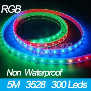 New Quality RGB 3528 SMD LED Flexible Strip Tape lights 5M/300 leds