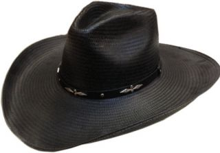 Resistol Western Boot Hill Black Straw Cowboy Hat