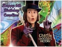 Willy Wonka #1 Edible CAKE Icing Image topper frosting birthday party